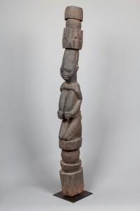 Poteau de véranda de palais Yoruba, Nigéria, 19ème siècle